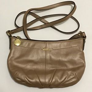 Coach leather Pearlescent crossbody